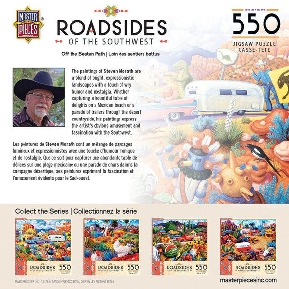 Roadsides of The Southwest - Off the Beaten Path - 550 Piece Jigsaw Puzzle