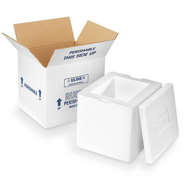 Insulated Styrofoam Padded Perishable Food Container