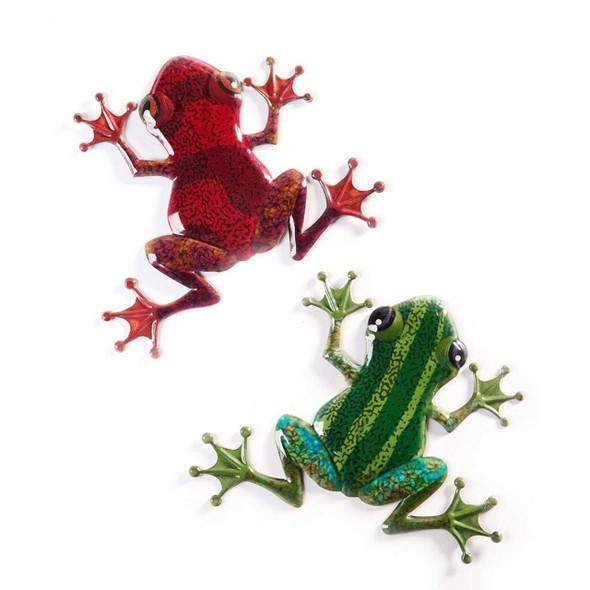 Metal Frog Wall Plaque Wall Decor The Nut House
