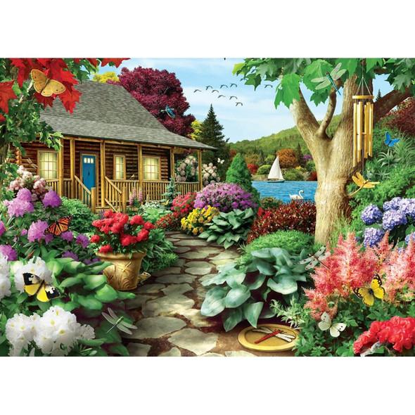 Time Away Dragonfly Garden - 1000 Piece Jigsaw Puzzle by Alan Giana