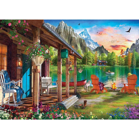 Time Away Evening on The Lake - 1000 Piece Jigsaw Puzzle by Dominic Davison Jigsaw Puzzles The Nut House