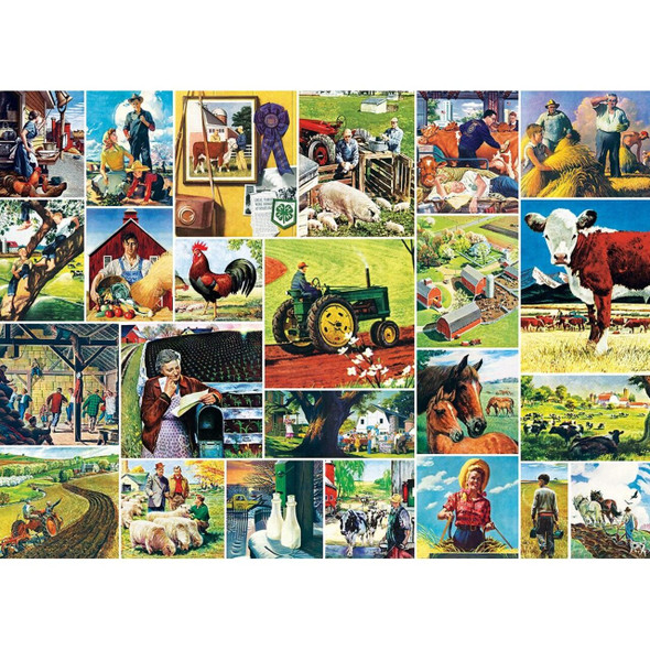 Farmland Collage Saturday Evening Post Norman Rockwell collage puzzle