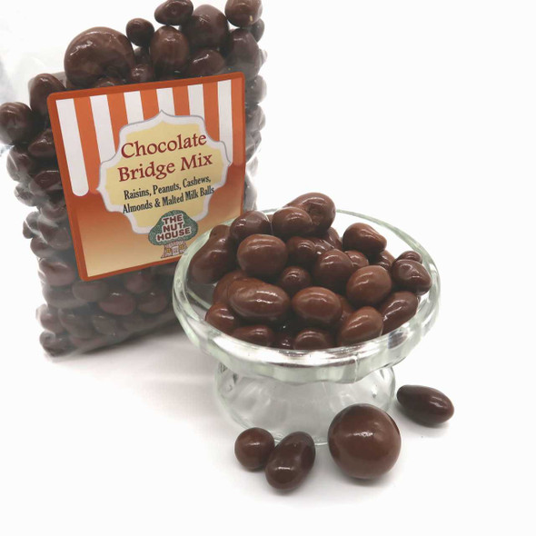Chocolate Bridge Mix 12 oz. Candy The Nut House
