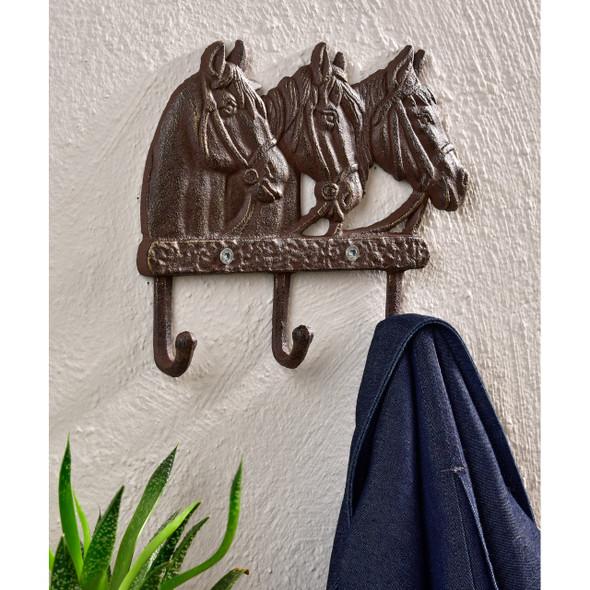 Horse Heads Design Wall Decor