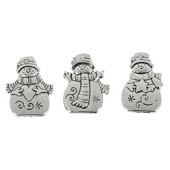 Triple Snowmen Prayer Box Charm