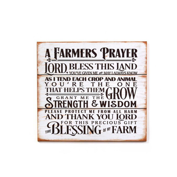 Farmer's Prayer Wall Sign Decorative Signs & Plaques The Nut House