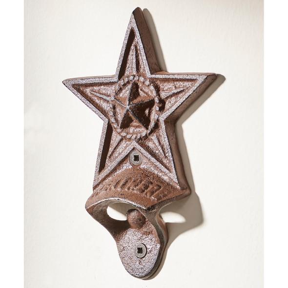 Cast Iron Star Design Wall Mounted Bottle Opener