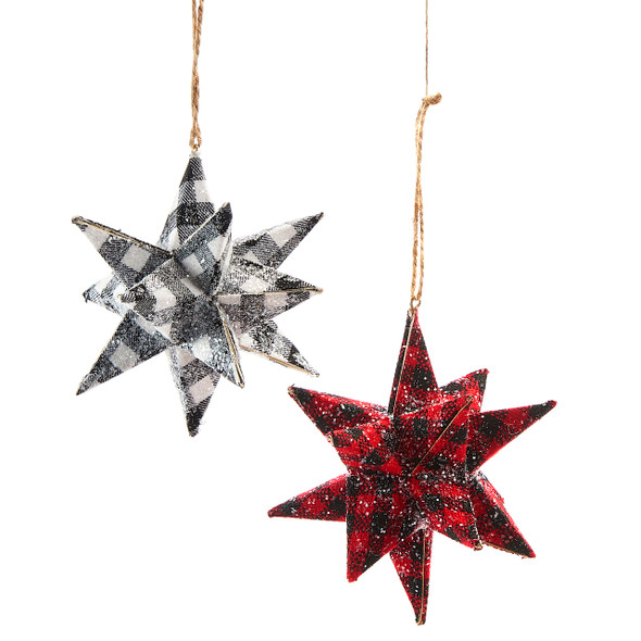 3D Plaid Starburst Ornament