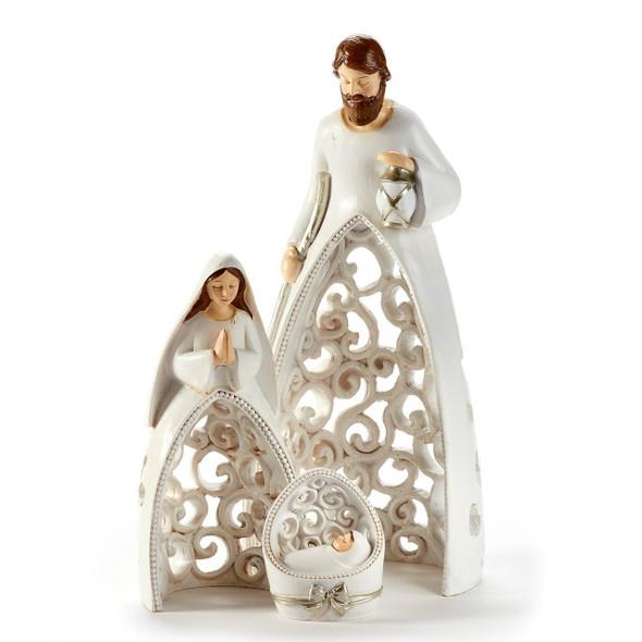 Holy Family Nesting Nativity Figurines Set of 3