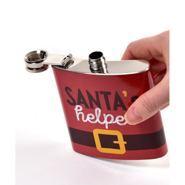 Santa's Helper Flask