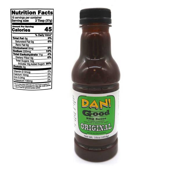 Dan! Good BBQ Sauce Original Flavor Culinary Sauce & Salad Dressings The Nut House
