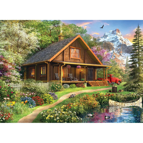 Time Away Mountain Retreat - 1000 Piece Jigsaw Puzzle