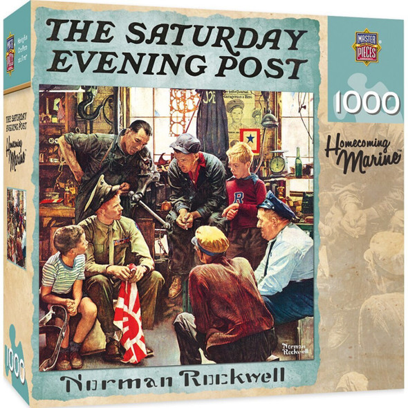 Saturday Evening Post - Homecoming Marine 1000 Piece Jigsaw Puzzle by Norman Rockwell