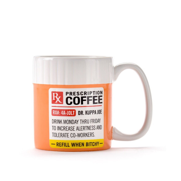 Someone need a double dose of coffee? Dr Cuppa Joe has what you need! Mug colored like a prescription bottle is a great gift for healthcare professionals or anyone who needs that extra cup to make it through the day. 11oz. Dolomite