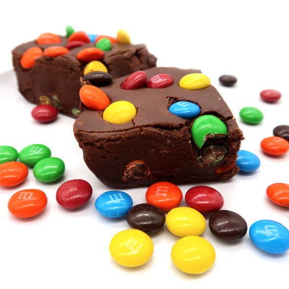 Regular multi colored M & M fudge