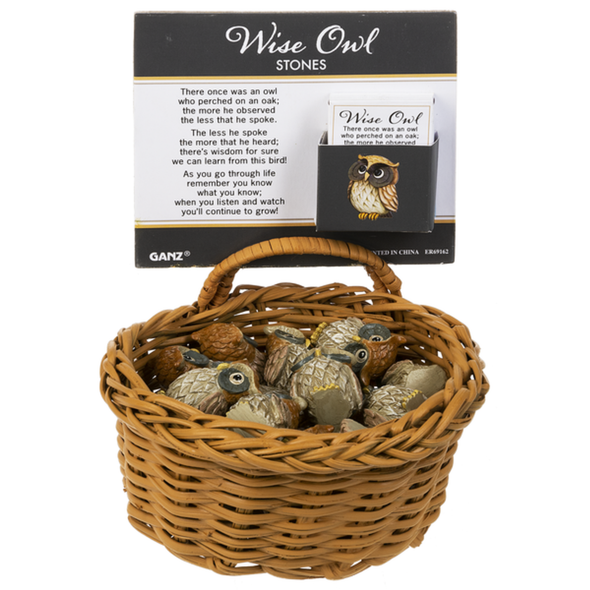 Wise Owl Pocket Stone Charms & Pocket Tokens The Nut House