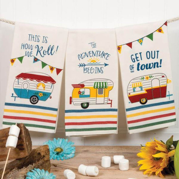 Camper Theme Tea Towel