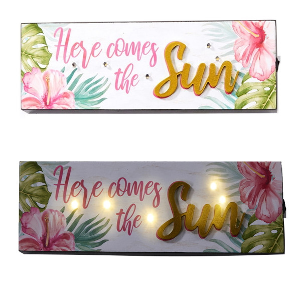 Here comes the Sun tropical LED sign