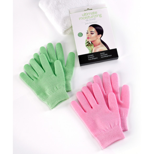 Moisturizing Gel Gloves in pink or green by Giftcraft