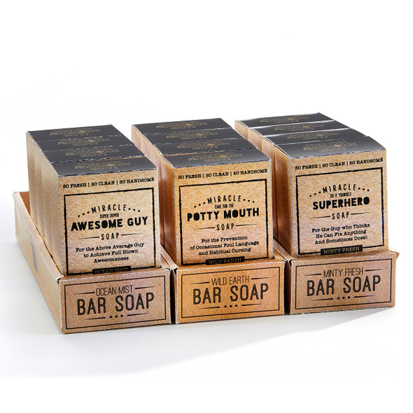 Awesome Oatmeal soap comes in three different scents