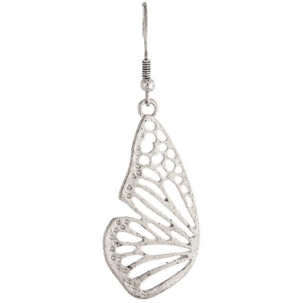 Silver Butterfly Wings Earrings