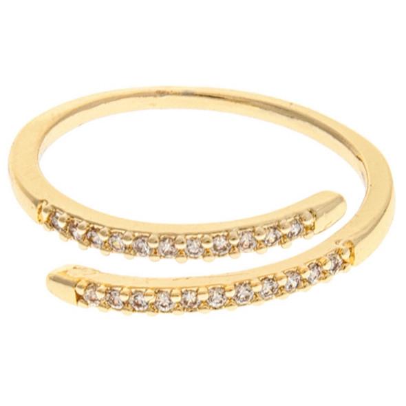 Gold Open Bypass SZ 7 Ring