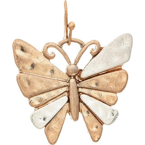 Two Tone Funky Butterfly Earrings