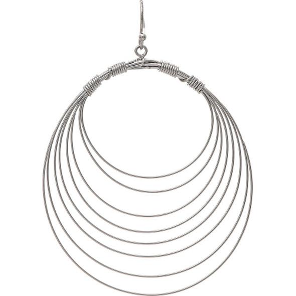 Silver Wire Cascade Earrings