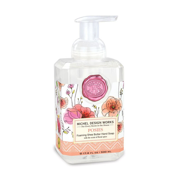 The generous size of our foaming hand soap proves you can offer great value without sacrificing quality. The soap contains shea butter and aloe vera for gentle cleansing and moisturizing. DETAILS 17.8 fl. oz. / 530 ml liquid SCENT Tuberose and bergamot with splashes of freesia, rose, and cognac