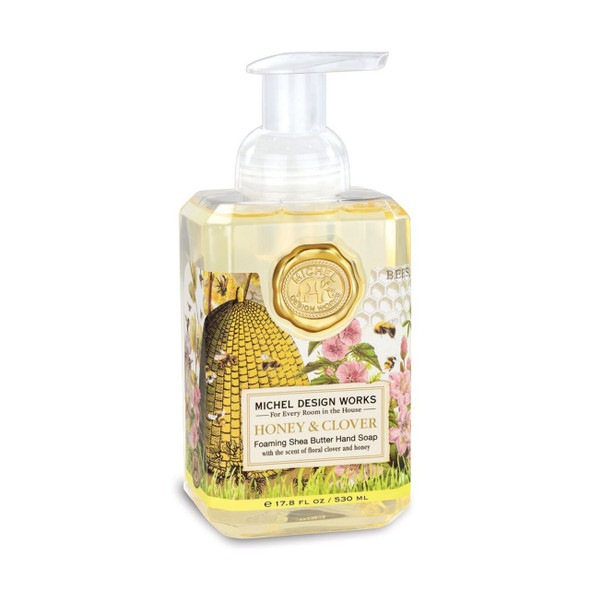 Honey and Clover Foaming soap by Michel Design Works