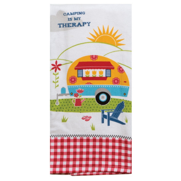 Camping Therapy Dual Purpose Terry Towel