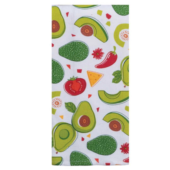 Guac World Toss Dual Purpose Terry Towel Kitchen Towels The Nut House