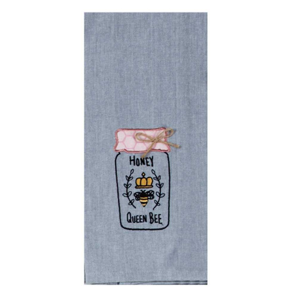 Bee Inspired Embroidered Tea Towel Kitchen Towels The Nut House