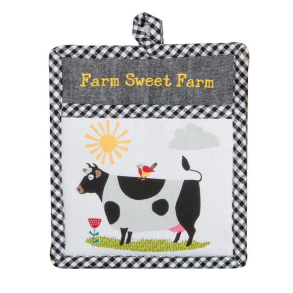 Farm Charm Cow Pocket Mitt