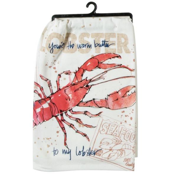 Fresh Catch Lobster Krinkle Flour Sack Towel