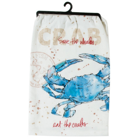 Fresh Catch Crab Krinkle Flour Sack Towel
