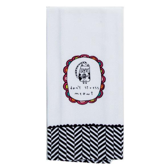 Pet Stress Meow Tea Towel