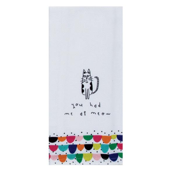 Pet Cat Meow Tea Towel