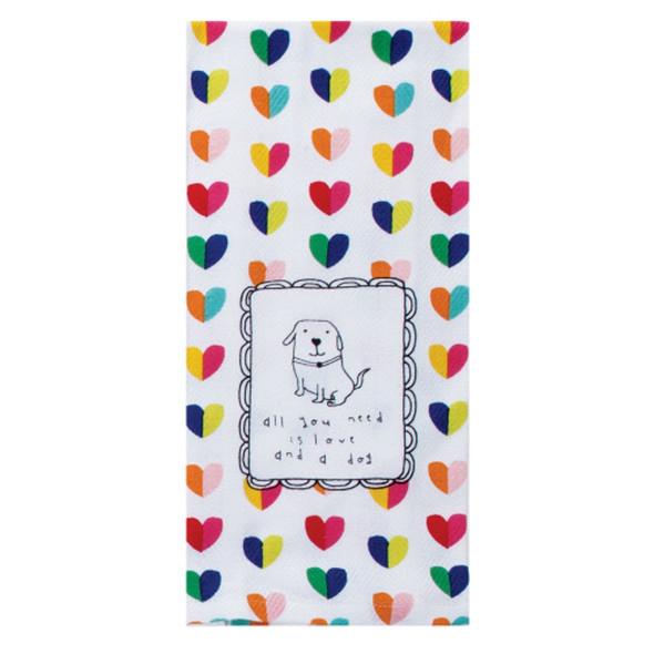 Pet Love And A Dog Tea Towel