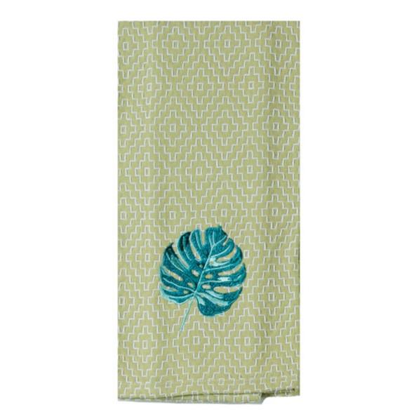 Paradise Embroidered Tea Towel