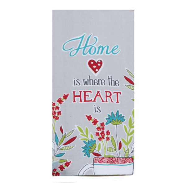 House Rules Home is Heart Dual Purpose Terry Towel