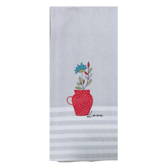 House Rules Herbal Applique Tea Towel