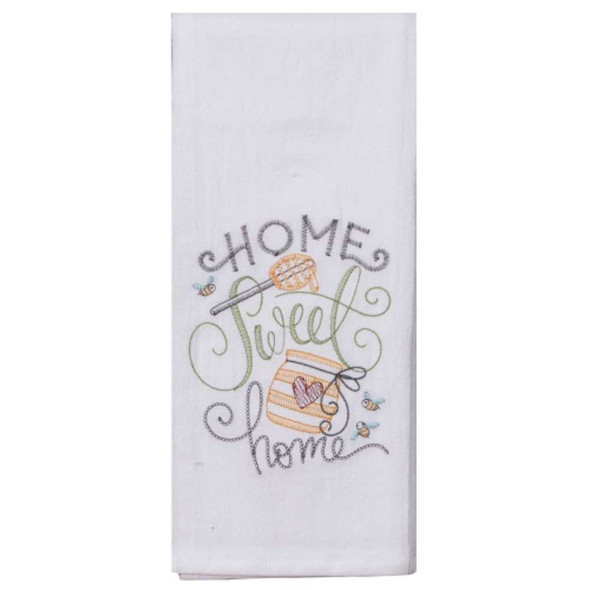 Home Sweet Home Embroidered Flour Sack Towel Kitchen Towels The Nut House