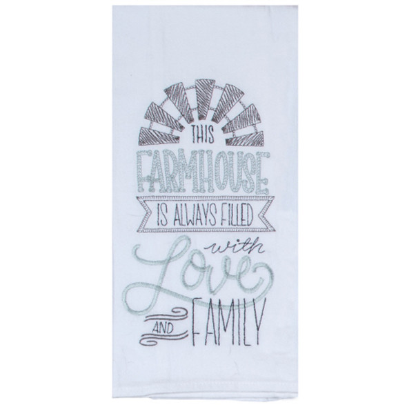 This Farmhouse Embroidered Flour Sack Towel