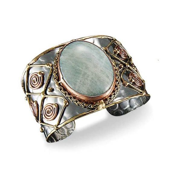 Mixed Metal and Amazonite Stone Bracelet Bracelets The Nut House