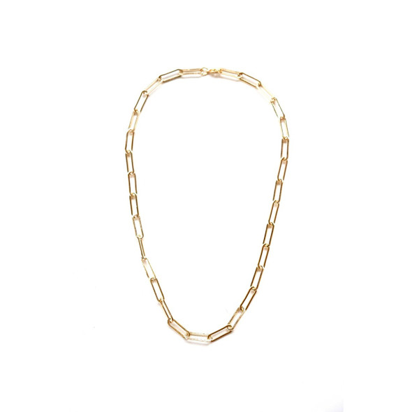 18 K gold plated chain necklace is perfect for layering or wearing alone