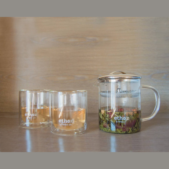 Ethoz Double Wall Glass Cup Set
