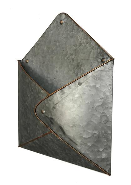 Metal Envelope Wall Pocket Magazine Holder
