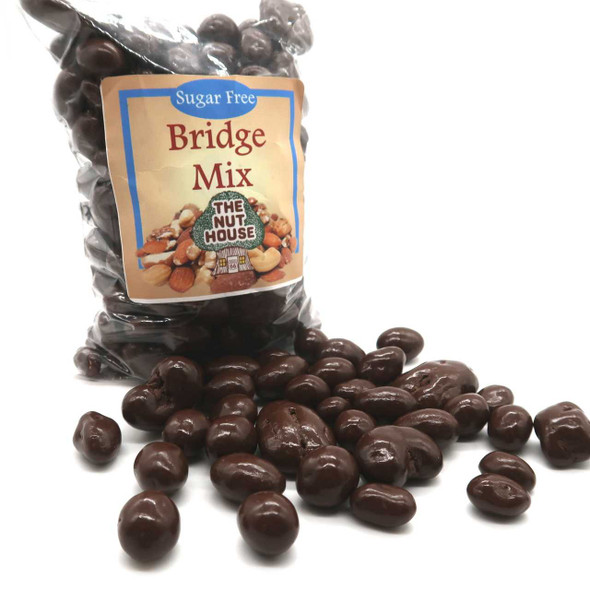 Sugar Free Chocolate Bridge Mix 12 oz Candied Pecans The Nut House