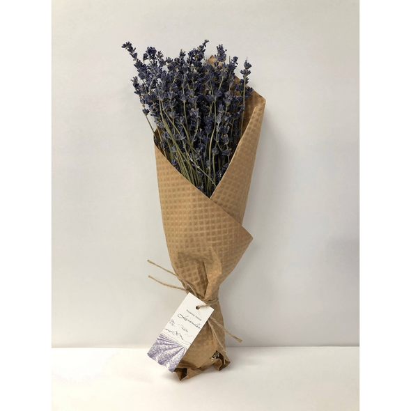 Real dried lavender bundle from Provence France provides natural and beautiful aromatherapy for your home- place in a vase or tie upside down, use in a wreath or other dried display.